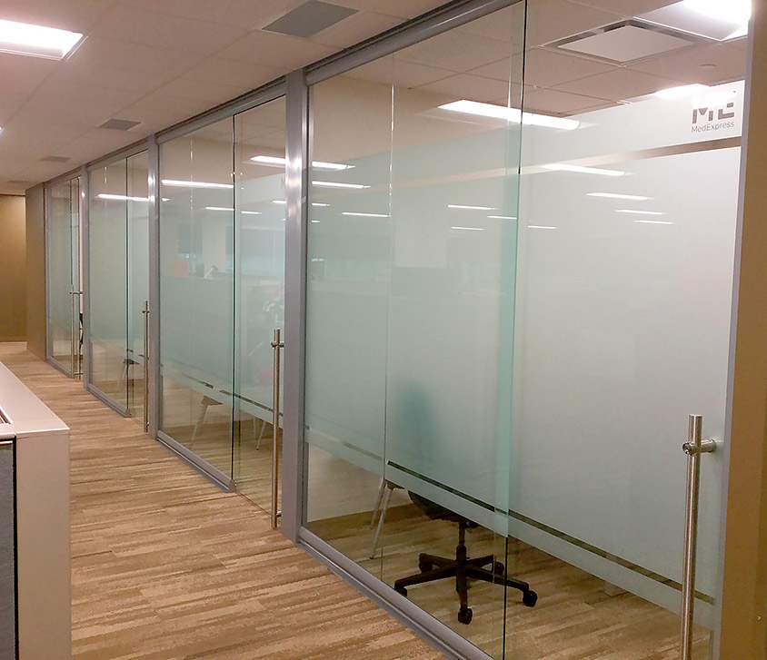 View glass office wall system for Glass sliding walls
