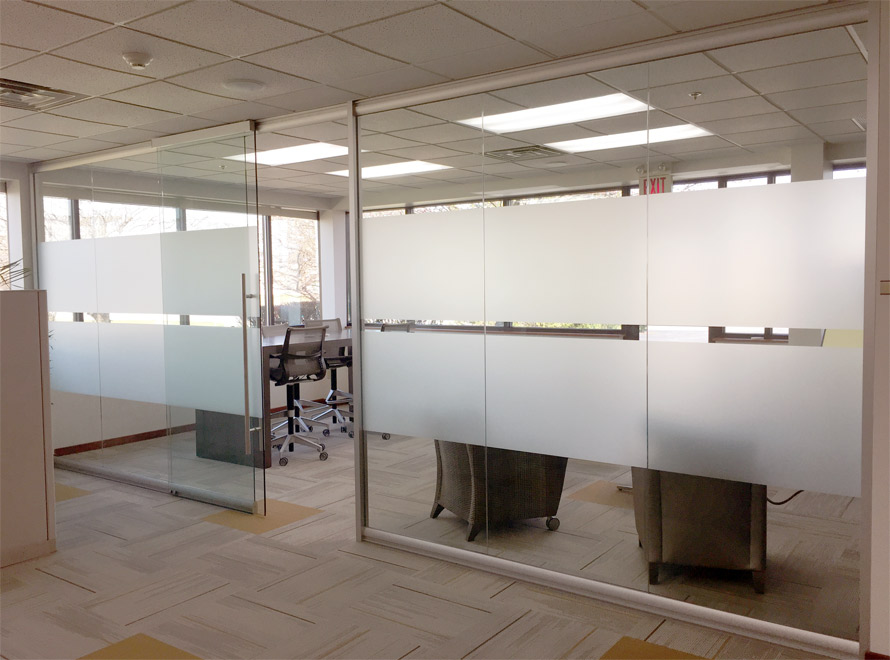 View glass office wall system for Opening glass walls