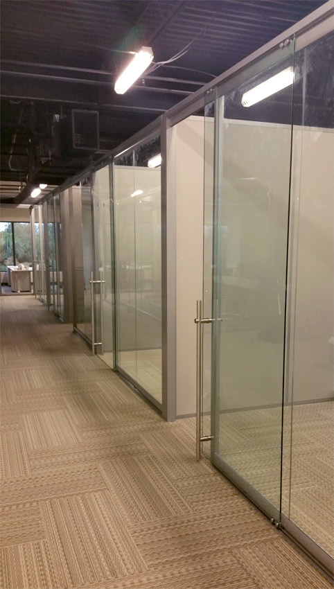 View glass office wall system for Sliding glass door wall system