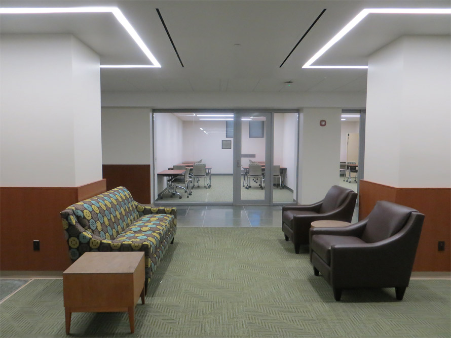 NxtWall glass office walls and reception waiting room lobby at MSU