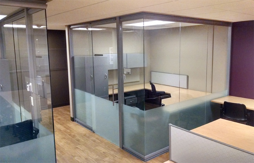 Open Corner Glass Office Wall System   View Series