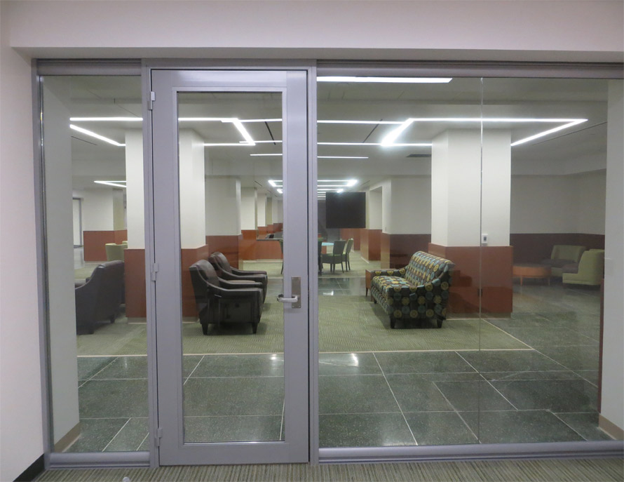 D Reversible Aluminum Framed Glass Office Door East Lansing MI