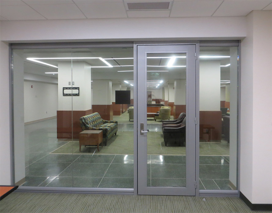 Seamless Glass Front With Aluminum Frame Door East Lansing Mi
