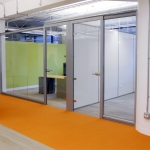 Chicago Glass Wall Offices Swing Glass Doors