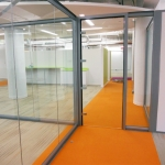 Chicago, IL - Demountable Glass Offices Swing Glass Door