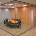 Conference room full glass installation with sliding door View Series