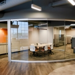 Curved Glass Wall Conference Room - View Series