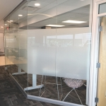 Floor to Ceiling Glass Fronts with Frosted Window Stripe - View Series