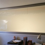 Contemporary glass walls with frosted film