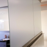Frosted film glass walls - View Series