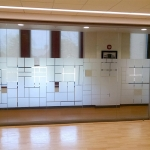 Frosted glass window film - View Series glass walls