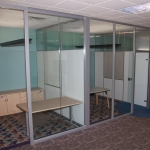 Full height glass offices (View and Flex Series Integration)