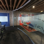 Glass Conference Room with Frosted Film Decal