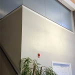 Glass riser walls with open corner - NxtWall View Series