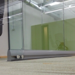 Glass Sliding Door Unlevel Floor Installation