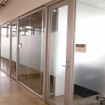 University glass wall system installation - View Series