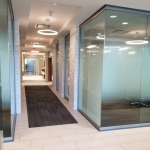 Glass Financial Firm Offices with Custom Window Film - View Series