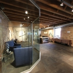 Glass Curved Meeting Room Wall - NxtWall Chicago Showroom