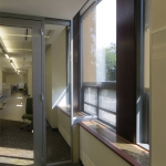 Centered glass walls field-fit capabilities of View series walls