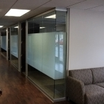 Glass office fronts with privacy glass film