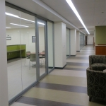 Glass offices at University - Nxtwall View series demountable walls