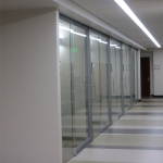 Glazed offices with sliding doors - View Series