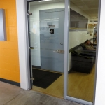 Glass swing door front entrance - View series