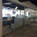 Glass wall cubicle area - View series