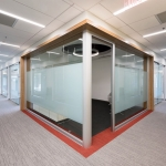 Law firm offices installation - View series glass offices with privacy film