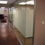 Open corner glass office NxtWall View series wall system
