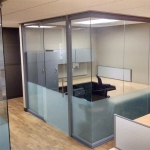 Open corner glass office wall system - View series