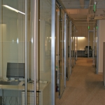 Glass Offices with Metal Barpulls