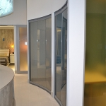 View series curved glass full-height office walls