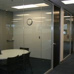 View series glass office fronts with veneer doors