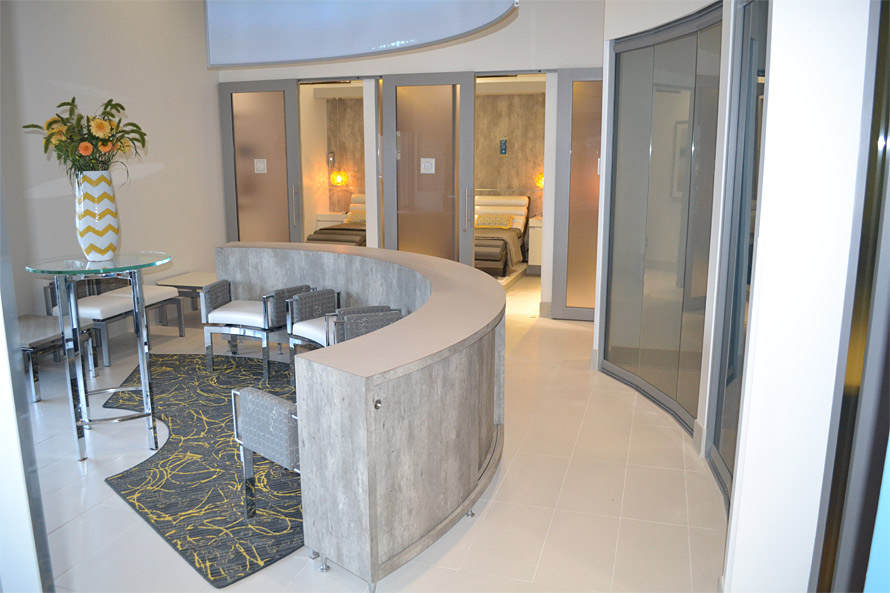 NxtWall glass curved office walls
