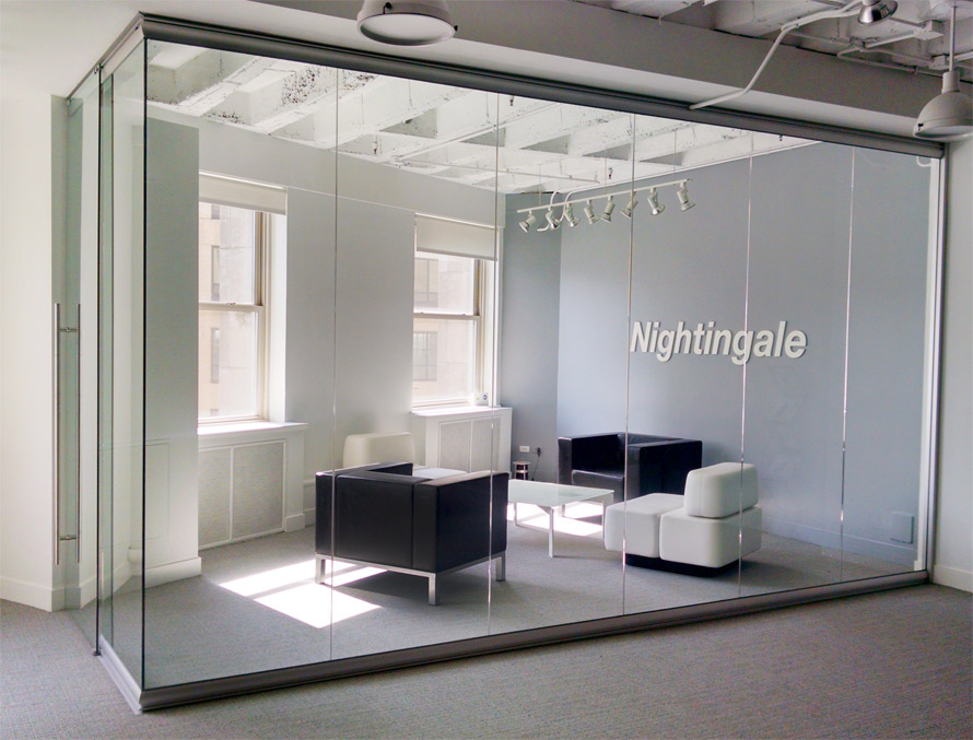 glass wall office. view series glass display showroom in chicago wall office