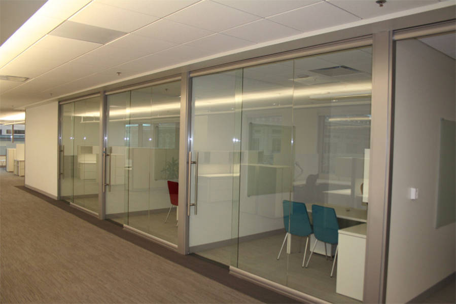 Replace conventional construction with removable for Sliding glass wall systems