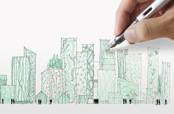 green commercial building sketch nxtwall
