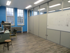 Higher education eco-friendly school building products - clerestory classroom whiteboard-demountable-walls