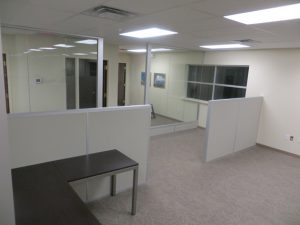 demountable wall in commercial building - green building benefits