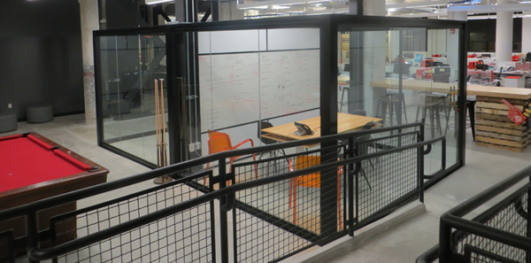 Sustainable workplace design example with NxtWall demountable walls