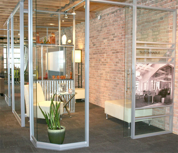 innovative office designs. Innovative Office Design With Demountable Glass Walls By NxtWall Innovative Designs