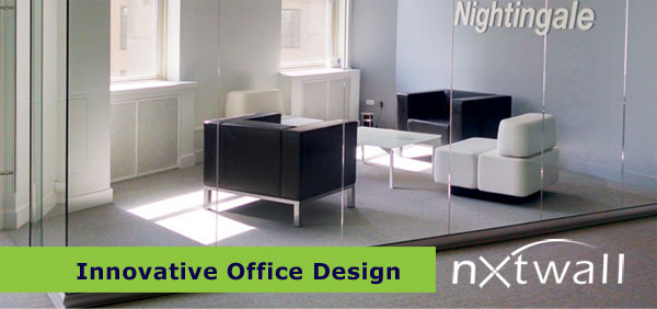 Nightingale chooses nxtwall glass walls as an innovative for Innovative office design