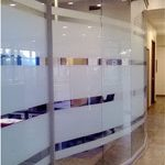 etched glass modular wall panels