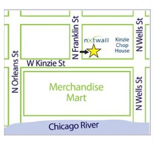 Map to NxtWall's Chicago demountable wall showroom