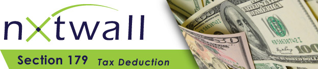 NxtWall tax deduction section 179 header image