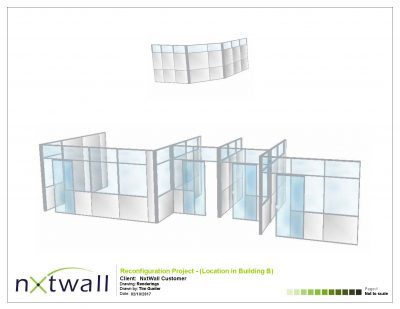 NxtWall Reconfiguration Project Rendering - 2017