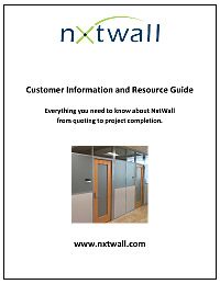 NxtWall Architectural Walls Customer Information and Resource Guide