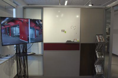 NxtWall NeoCon Booth 2018 Flex Series Six Different Finishes Interior Side Wall
