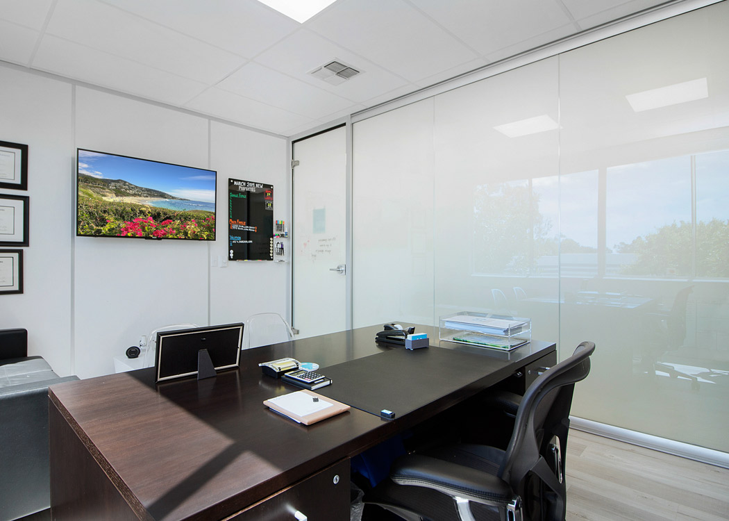 NxtWall Glass Office with Switchable Glass (Opaque)